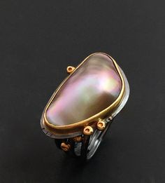 Mabe Pearl Ring by Elaine Rader. Jewelry that inspires. For more follow www.pinterest.com/ninayay and stay positively #inspired
