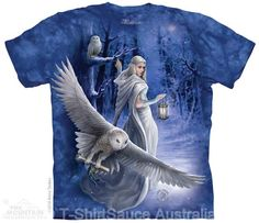Anne Stokes Art Unicorn SOLACE Adult Front Only Print Polyester T-Shirt S-3XL