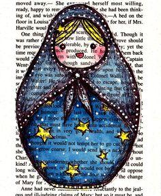 Russian Doll Matryoshka Number 4 by lovelyelika on Etsy, $15.00