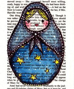 Russian Doll  Matryoshka  Number 4 by lovelyelika on Etsy, $15.00