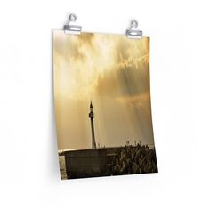 SUNNY LIGHTHOUSE Vertical Fine Art Prints (Posters)