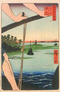 歌川広重 Hiroshige Utagawa「はねたのわたし辧天の社」