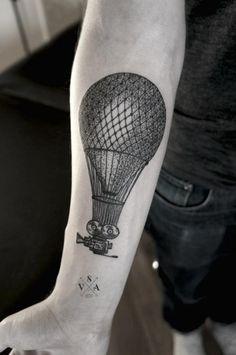 Russian Tattoo artist Andrey Svetov. #Balloon #geometric #forearm.