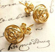 Gold Nest Stud Earrings by otis jaxon