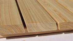Rhombusleiste aus sibirischer Lärche, 27 x 68 mm, Länge : 2 m, 3 m, 4m und 5,1 m Butcher Block Cutting Board, Garage, Outdoors, Gardening, Lawn And Garden, Home Ideas, Wooden Panelling, Garden Fencing, Boards