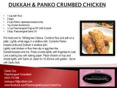 DUKKAH & PANKO CRUMBED CHICKEN Flaschengeist Original Dukkah Flaschengeist Chilli Dukkah Flaschengeist Garlic Oil