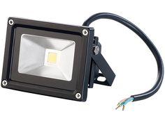 PEARL Wetterfester LED-COB-Fluter, Metallgehäuse, 10 W, IP65,5400K PEARL Wasserfeste LED-Fluter