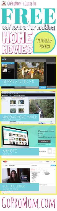 Free Software for Editing Videos and Home Movies