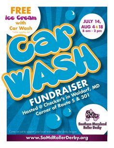 car wash fundraiser flyer template