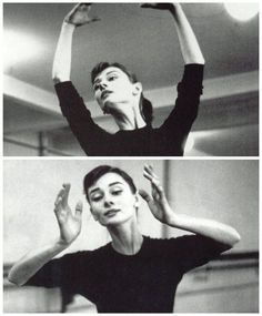 """""""My first dream was to be a ballet dancer. I didn't know about success at all. You can only hope to get a combination of happy work and a happy life."""" - Audrey Hepburn"""