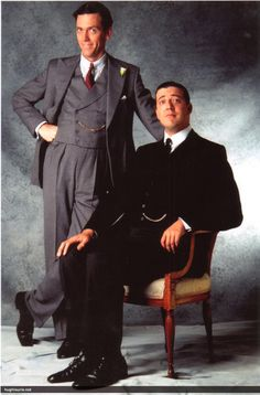 Jeeves & Wooster Analyzed - The Suits & Clothes of Jeeves — Gentleman's Gazette Wedding Guest Suits, Wedding Dress, Blackadder Quotes, Jeeves And Wooster, Masterpiece Theater, Groom And Groomsmen Attire, British Comedy, British Actors, British Sitcoms