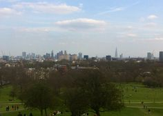 The view from Primrose Hill, London UK