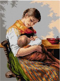 Cross Stitch Silhouette, Cross Stitch Collection, Angel Art, Hand Embroidery Designs, Pink Christmas, Mother And Child, Needlepoint, Cross Stitch Patterns, Vintage Ladies