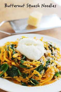 Butternut Squash Noodles with Spinach and Ricotta
