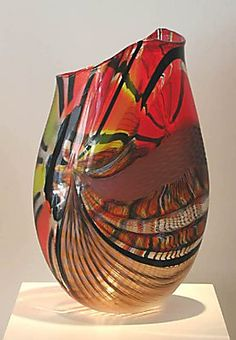 """""""Energico"""" by Afro Celotto (blown, coldworked glass)"""