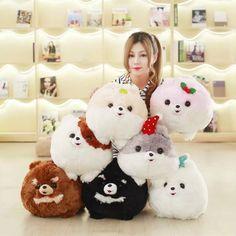 27.14$  Watch now - Super Cute 1Pc 7 Colors 30x40Cm Creative cartoon Pomeranian dog Plush Pillow With Blanket Insider (100x160Cm) Kids Birthday Gift  #SHOPPING