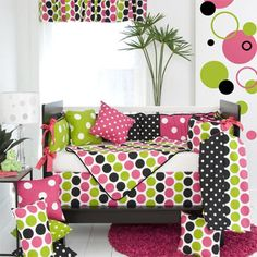 Dottie 4-Piece Baby Girl Crib Bedding Set by Glenna Jean with FREE shipping #nursery #baby TinyTotties.com
