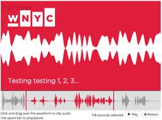 The Future of Social Audio is Here, Presenting the Audiogram Generator ¶  by Delaney Simmons, Director of Social Media at WNYC…