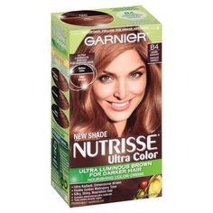 Garnier Nutrisse Ultra Color Nourishing Color Creme dramatically transforms naturally dark hair with ultra reflective tones. Choose from Ultra Light Blondes, Ultra Intense Reds and Burgundies, Ultra Lightening Browns, and Ultra Reflective Blacks. Chocolate Hair, Chocolate Caramels, Carmel Chocolate, Chocolate Color, Splat Hair Dye, Dyed Hair, Pixie, Hair Meaning, Hair Color Formulas
