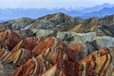 Colorful mountain in Danxia landform in Zhangye, Gansu of China. via @AOL_Lifestyle Read more: http://www.aol.com/article/2016/07/03/alien-hunter-claims-google-earth-shows-a-giant-pyramid-on-ocean/21423576/?a_dgi=aolshare_pinterest#fullscreen