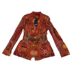GIANFRANCO FERRE Burgundy Silk Jacket