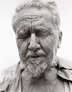 Ezra Pound, at the home of William Carlos Williams, Rutherford NJ —© Richard Avedon (June 30, 1958)