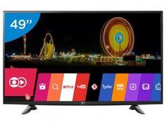 """Smart TV LED 49"""" LG Full HD 49LH5700 - Conversor Digital Wi-Fi 2 HDMI 1 USB  R$ 2.299,00 em até 10x de R$ 229,90 sem juros no cartão de crédito"""