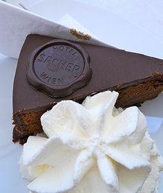 Sacher Torte from #Vienna's Grand Hotel Wien. #dessert