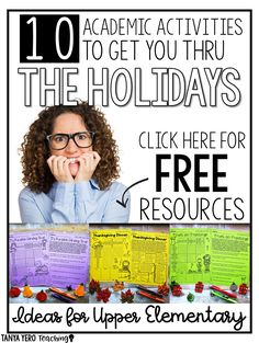 10 Holiday Activities for Upper Elementary Students