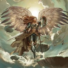 Magic the Gathering Tactics online - Serra Angel by Kaiz0.deviantart.com on @deviantART
