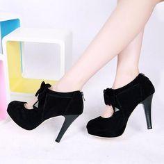 Ladies Bowtie Lolita High Heels Party Dress Shoes Womens Stilettos Pumps Us Size High Heel Pumps, Shoes Heels Pumps, Platform High Heels, Stilettos, Women's Shoes, Dress Shoes, Sandals, Cute High Heels, Black High Heels