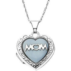 Zales Heart-Shaped Motherly Love Simulated Birthstone Pendant in Rose Rhodium Sterling Silver (2 Names and 1 Stone) SEcPeI51