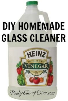 I use white vinegar for so much!!!  Easy way to clean mirrors and any other glass you may have around your house! Mix together 2 cups warm water, 1/4 cup white vinegar, 1/4 cup rubbing alcohol, 1 tablespoon of corn starch and enjoy!!