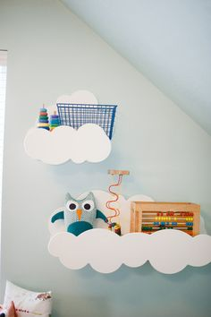 Contemporary Kids by Design Loves Detail: cloud shelves