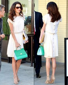 Amal Alamuddin Wears White (Gasp!) After Labor Day: 8 More Celeb Style Rule Breakers