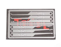 A complete lock pick set that is truly no bigger than a credit card.