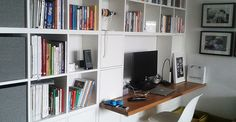 Bookcase with work table