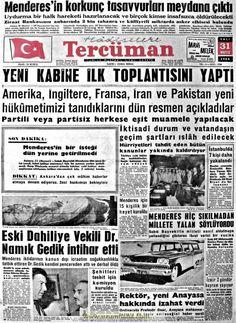 Tercüman gazetesi 31 mayıs 1960