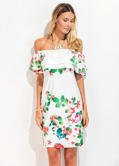 Fashion Casual Sexy Summer Sleeveless Off the Shoulder Slash Neck Sundresses Print Vintage Floral Women Dresses