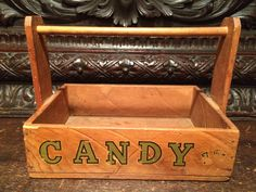 Vintage Penny Candy Tray Hand Nailed with Fitted Dowel Handle by MidCenturyAmericana on Etsy
