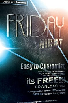 free friday night flyer and poster psd template httpwwwfreepsdflyer