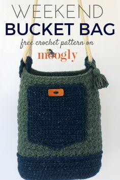 Weekend Bucket Bag: free crochet pattern on Mooglyblog.com!