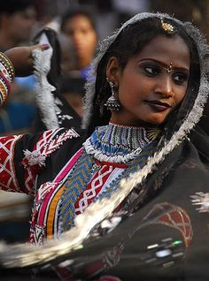 The Kalbelia tribe of Rajasthan are gypsies and are popular for their dancers....Dance little lady dance by sanjayausta, via Flickr