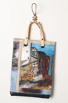 Still Life painted bag  ANTHROPOLOGIE