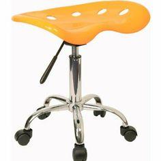 Flash Furniture Hercules Series Black Vertical Back Metal Restaurant Chair, Wood Seat, Multiple Colors, Orange Deco Orange, Tractor Seat Stool, Pink Tractor, Office Stool, Work Chair, Mellow Yellow, Orange Yellow, Art Deco, Modern Stools