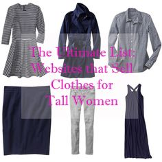 The Ultimate List - Websites that Sell Clothes for Tall Women