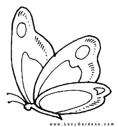 Printable Coloring Pages of Butterfly 008 | Printable pictures ...