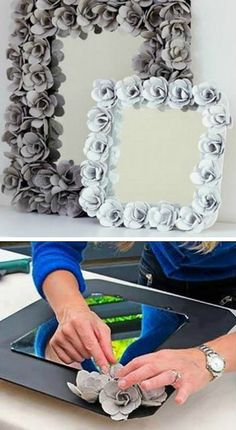 You will love this Egg Carton Rose Mirro Frame DIY and we have a video tutorial that will show you how. Check out all the great ideas now.