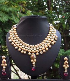 Designer Kundan and Meenakari Necklace Set