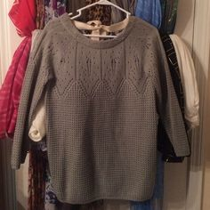Sweater Grey Sweater worn once Charming Charlie Sweaters